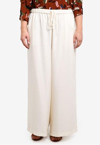 Ex'otico white Plus Size Basic Long Trousers EX373AA0RUVSMY_1