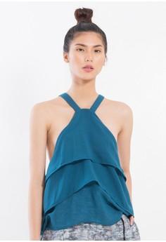 [PRE-ORDER] Layered Silk Chiffon flouncy halter top