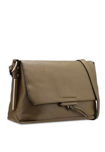 34332e26b59b Buy Dorothy Perkins Khaki Metal Side Crossbody Bag Online on ZALORA ...