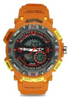 Unisex Ana-Digi Athletic Sports Watch 3207ME