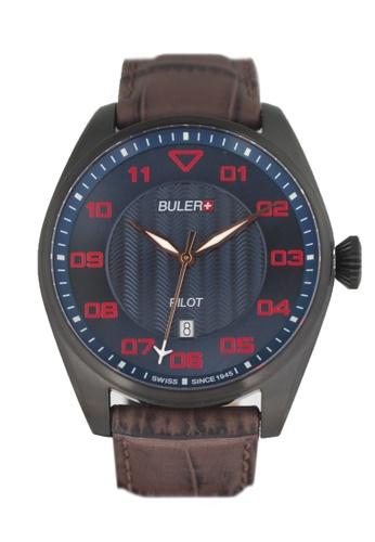 Buler brown and blue Buler Sport Watch - Blue - Gents - Date- 3H BU689AC2VG1FHK_1