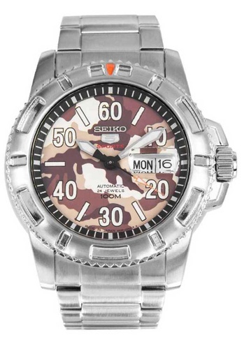 Seiko multi Seiko 5 Sports Brown and Silver Stainless Steel Watch 1B1A3AC88C6ED1GS_1