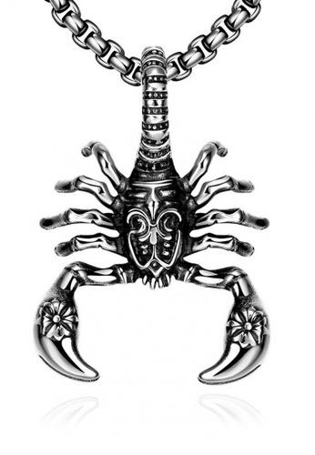 Sopistikada silver Scorpio 316L Stainless Steel Men's Necklace 5F224ACD589792GS_1