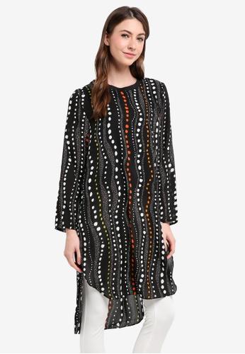 TOPGIRL black Multicolor Polka Dot Long Blouse 7BF26AA9386FE4GS_1