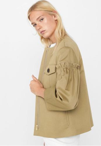 Mango green Pocket Cotton Jacket MA193AA67BSQMY_1