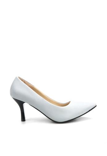 KissXXX 藍色 低反發舒適感美腿效果7CM小尖頭高跟鞋 KI603SH09MPPTW_1