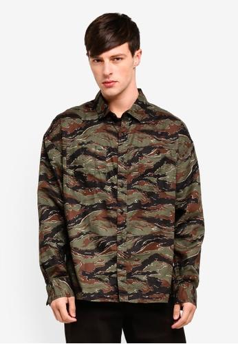Cotton On 綠色 Long Sleeve Workwear Shirt C3EDBAAE327276GS_1