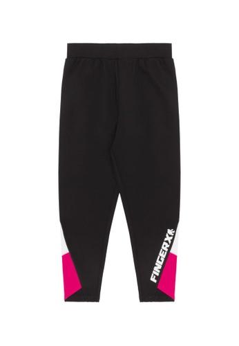 Fingercroxx black Colour block track pants D053DAACAB92BEGS_1