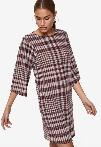 JACQUELINE DE YONG red Britta 3/4 Sleeves Short Dress 24E19AAD0D4314GS_1