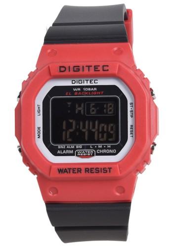 Digitec black Digitec - Jam Tangan Wanita - Red - Black Resin Strap - DG4088-I 6CDABAC30BABC5GS_1