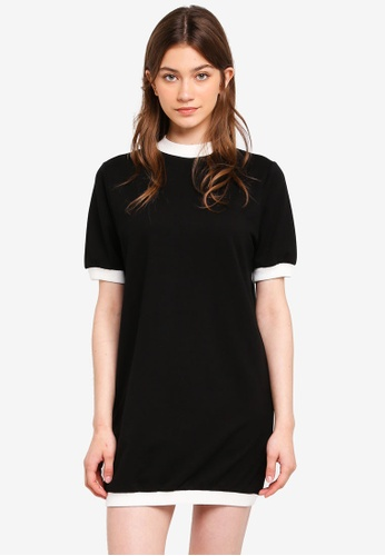 Something Borrowed black Contrast Rib Sweater Dress D123EAA22C8C53GS_1