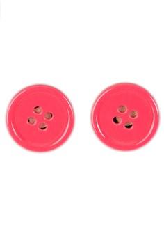 Plastic Button Earrings