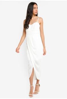 83e50e759e0d7 Forever New white Whitney Sweetheart Drape Maxi Dress AFF14AA740D245GS 1