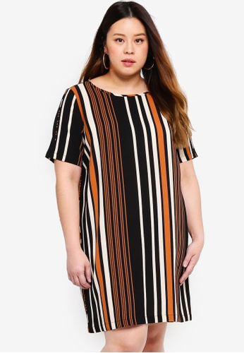 Only CARMAKOMA white Plus Size Printed Short Dress 5A741AA944166AGS_1