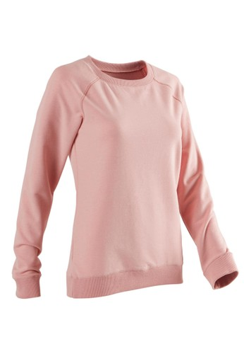 Decathlon Domyos Sweater Gym 500 Wanita Pink 8551954 126E7AAA97A67CGS_1