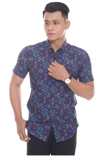 UA BOUTIQUE blue Short Sleeve Shirt SSB08-041 (Navy Blue) C845AAA468E393GS_1