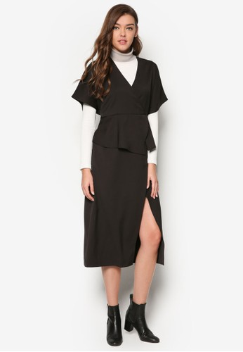裹飾傘擺及膝洋裝,esprit 旺角 服飾, 洋裝