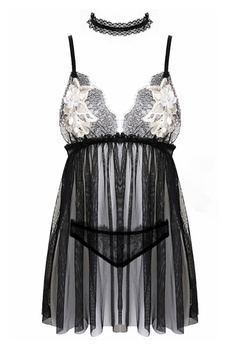 ec1b2a24252ad SMROCCO black Eloise Lingerie Nightie Dress PM8068 (Black)  7AB0DAA736EC8FGS 1