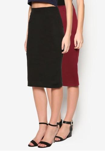 二入基本款及膝鉛zalora taiwan 時尚購物網筆短裙, 服飾, 裙子