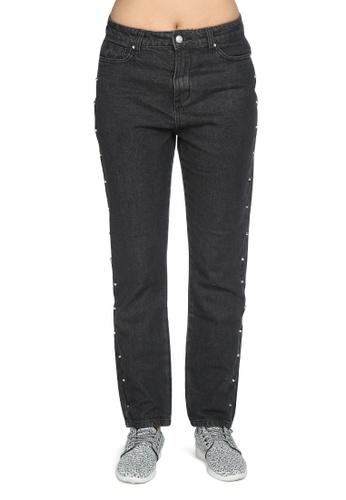 London Rag black Black Boyfriend Jeans FD682AA3A2DF6FGS_1