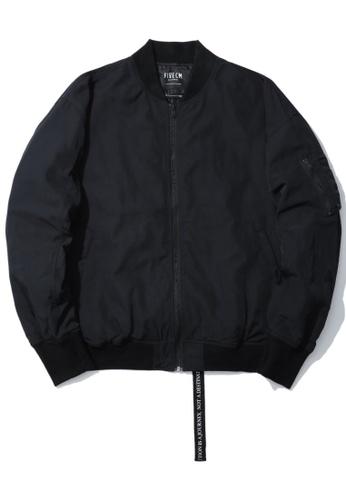 Fivecm black Back strap bomber jacket AA52CAA72D84A6GS_1