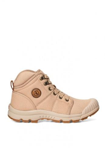 Aigle beige Tenere Light Mid Canvass Men's Adventurer's Shoes 4E956SH9E4067CGS_1