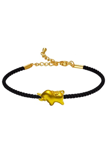 LITZ gold [SPECIAL] LITZ 999 (24K) Gold Ox Charm With Bracelet 牛手绳 EPC1005-B-B(0.12g+/-) 319CAACB983D12GS_1