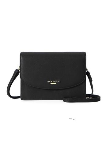 A FRENZ black Small PU Leather Side Purse Shoulder Bag 6BBCBAC4B164B2GS_1