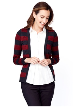 122afd23fc87dc Mamaway red and navy Cardigan with Maternity   Nursing Top (2 in 1)  E2942AAE133282GS 1