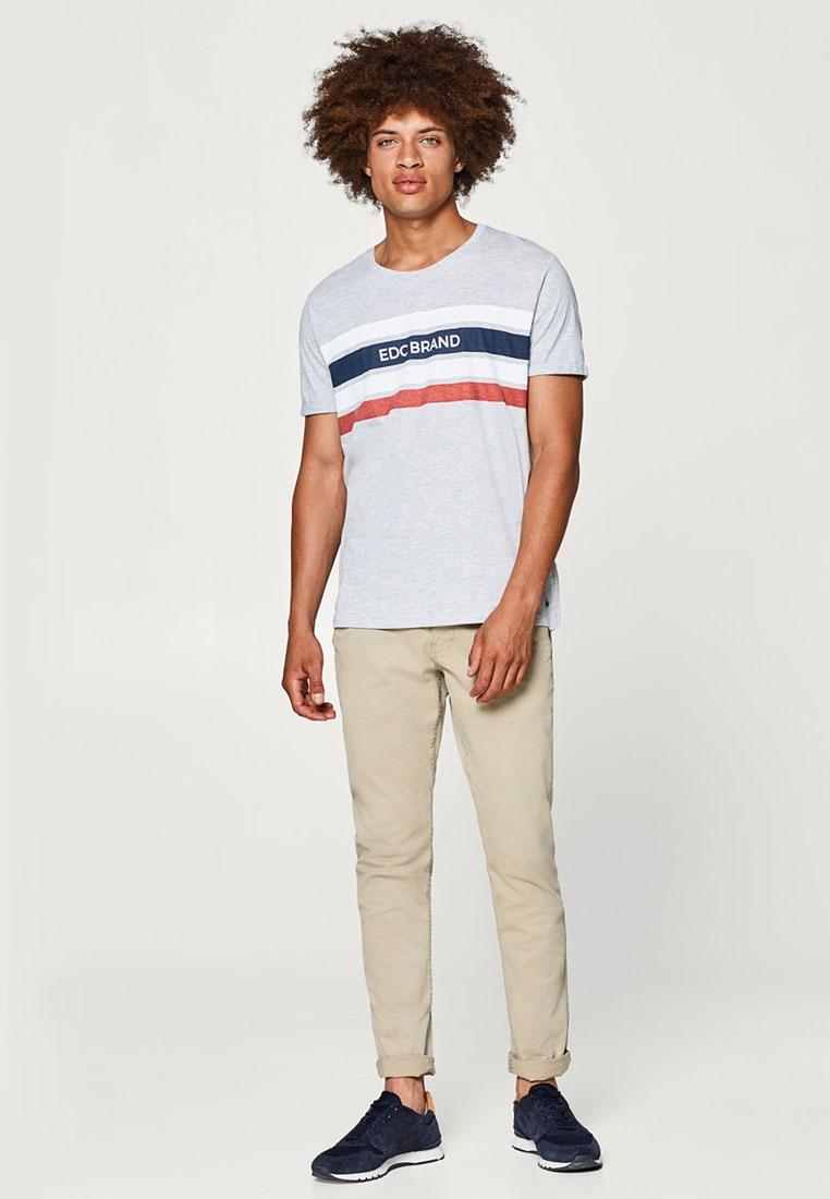 Melange Grey Logo Jersey ESPRIT Shirt T Medium 1r1Pp