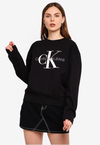 Calvin Klein Jeans Monogram Washed Crew Neck Sweatshirt