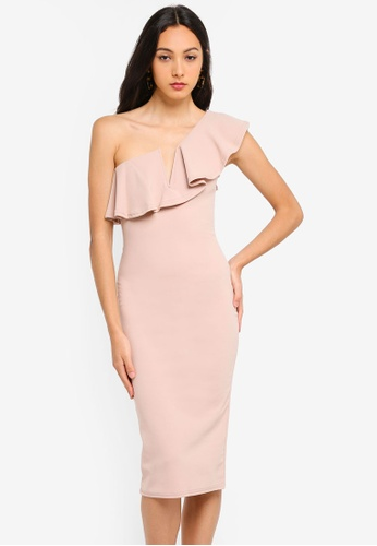 b5929d1849d4 Buy MISSGUIDED One Shoulder Frill Midi Dress Online on ZALORA Singapore