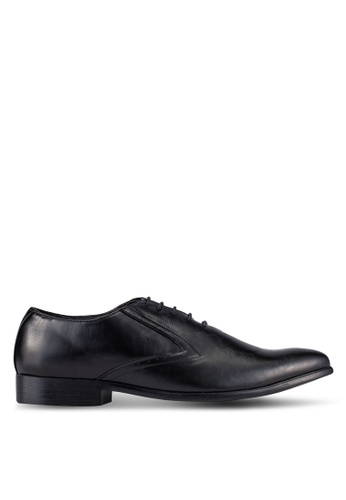 UniqTee black Lace Up Oxford Dress Shoes UN097SH0S21RMY_1