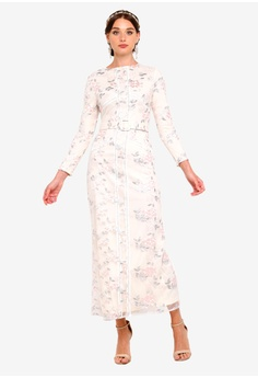 f17d7474fe25 Zalia pink Embroidered Floral Column Dress E5265AAC4068BCGS 1