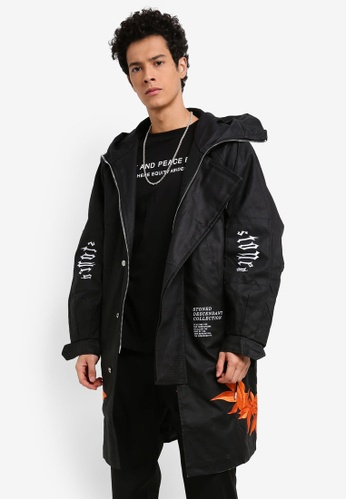 Stoned & Co black Descendant Field Jacket 80EE0AA67986EFGS_1