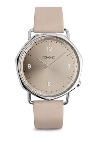KOMONO beige Orson Ivory Watch KO163AC0T0UHMY_1