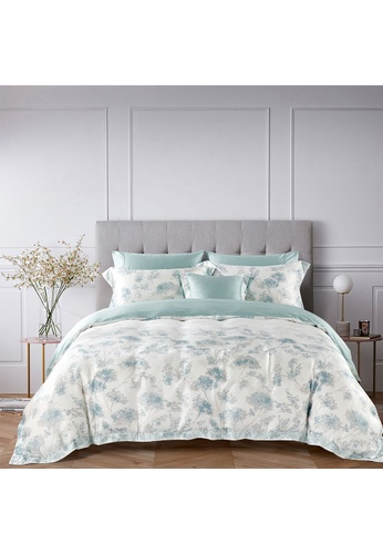 Epitex white and blue Cressent Dale 1600TC 100% Tencel CE2807 Bedset DCAA9HLE4FBDD2GS_1