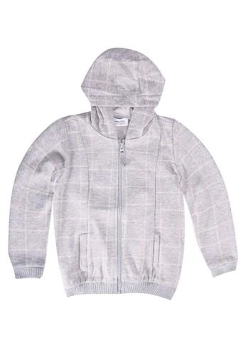 LC Waikiki grey Baby Boy's Zip-Down Sweatshirt with Hood DC7B5KAC3DDB9CGS_1
