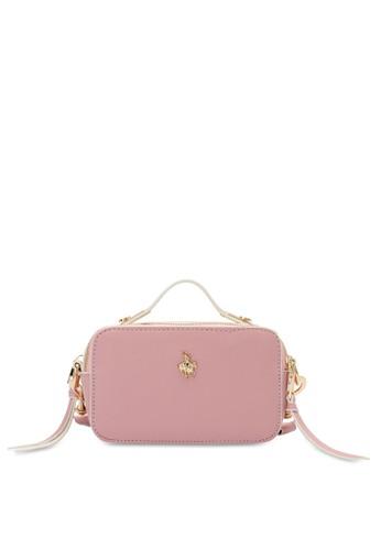Swiss Polo pink Textured Sling Bag 0EB03ACF587B1FGS_1