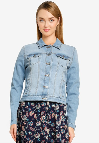 Springfield blue Organic Cotton Denim Jacket 8E535AA469D83FGS_1
