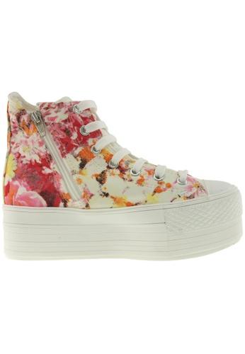 Maxstar Maxstar Women's C50 7 Holes Zipper Platform Canvas High Top Flower Sneakers US Women Size MA168SH96ZWTHK_1