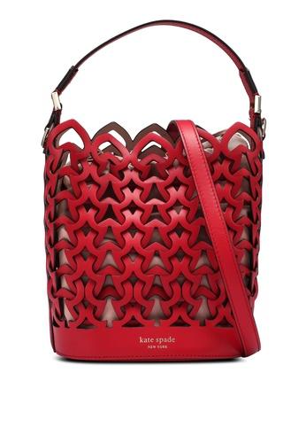 kate spade new york red Dorie Small Bucket Bag (cv) BEB5AAC94DD1EDGS_1