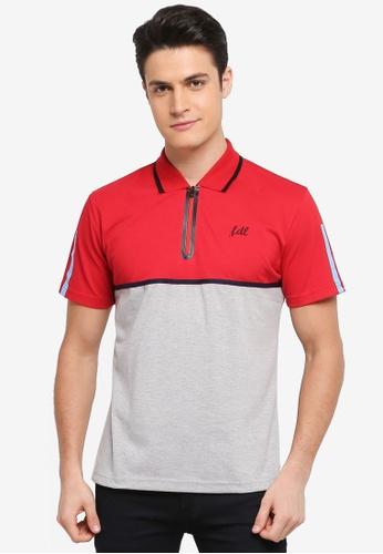 Fidelio 紅色 撞色休閒POLO衫 FB5F2AA971A3F7GS_1