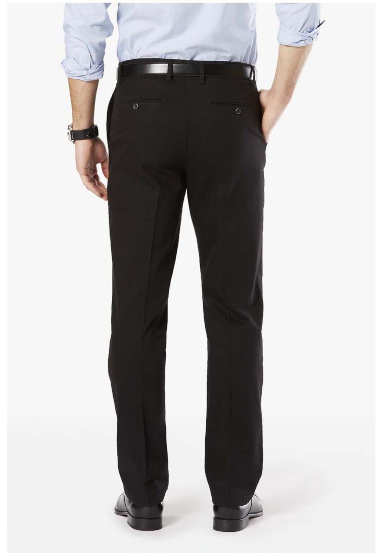 Black Stretch Black Dockers Signature Straight Khaki Pants Dockers aFXwPUx