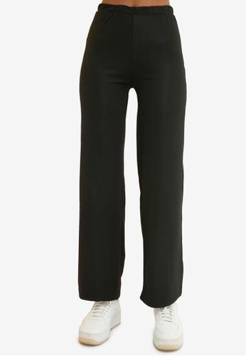 Trendyol 黑色 High 腰圍 針織長褲 91588AA5EC994EGS_1