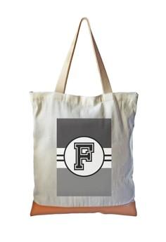 Tote Bag Monochrome Sporty Initial F