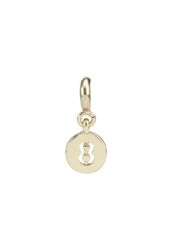 My Flash Trash gold GOLD NUMBER 8 CHARM CD10AAC02879C1GS_1