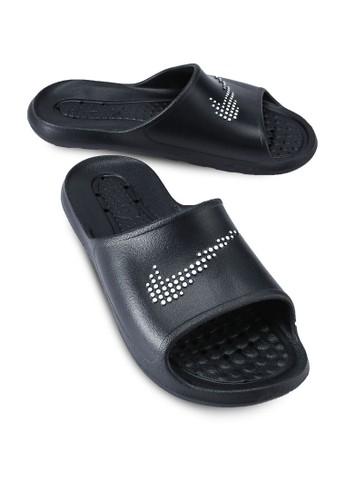 Nike black and grey Victori One Slides 0ACFESH0498CACGS_1