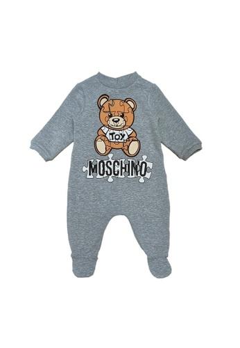 MOSCHINO BABY KID TEEN grey MOSCHINO BABY ROMPER 79D71KA95F3676GS_1