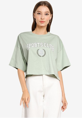 Cotton On green Chopped Boyfriend Tee 7D9D1AAEA7ED15GS_1